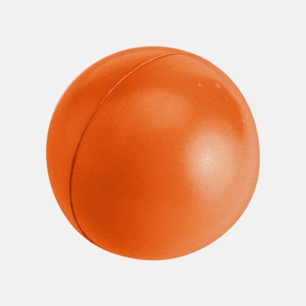 Orange Större stressbollar med reklamtryck