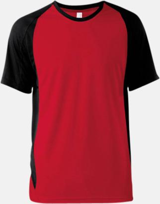 Röd/Svart Tvåfärgade funktionströjor för män - med reklamtryck
