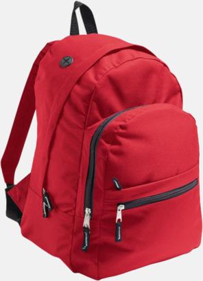 Röd Musikvänliga ryggsäckar med tryck eller brodyr