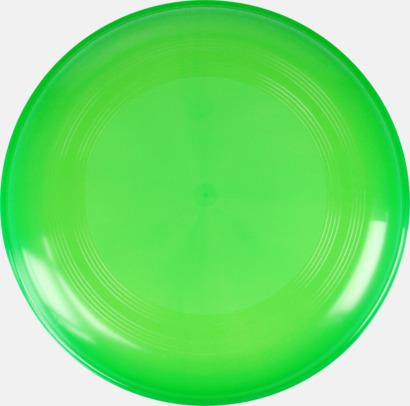 Transparent Grön Frisbees med reklamtryck