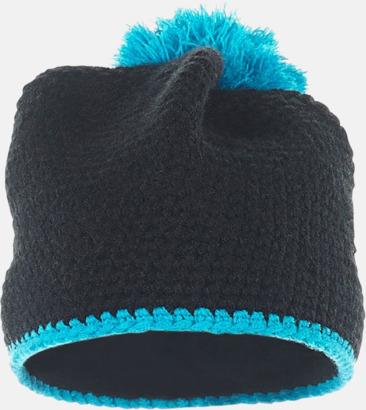 Framsida Toppluvor med rand och toft i annan färg - med bordyr