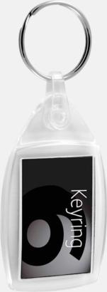 Oval/rektangulär med plastfäste Nyckelringar i olika former med digitaltryck