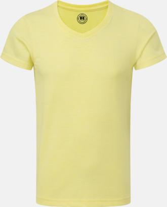 Yellow Marl (v-neck pojke) Barn t-shirts i u- och v-hals med reklamtryck