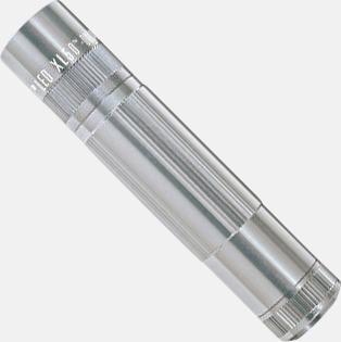 Silver Maglite XL 50 LED med gravyr