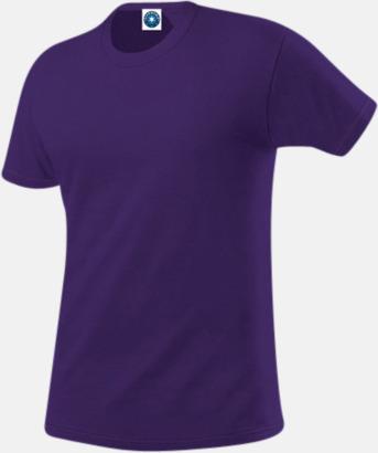 Lila Herr t-shirts i ekologisk bomull