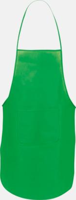 Grön Billiga förkläden i många färger - med reklamtryck