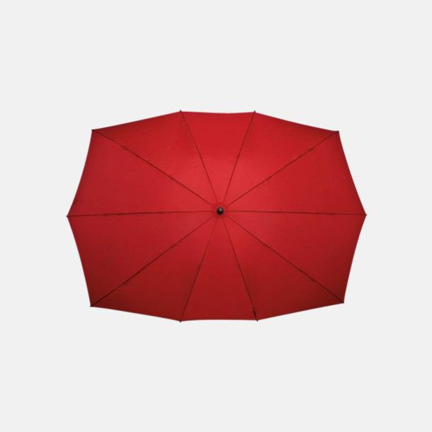 Röd (PMS 1797C)  Tvillingparaply med eget reklamtryck