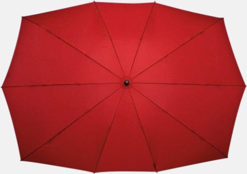 Röd (PMS 1797C)  Tvillingparaply med eget tryck