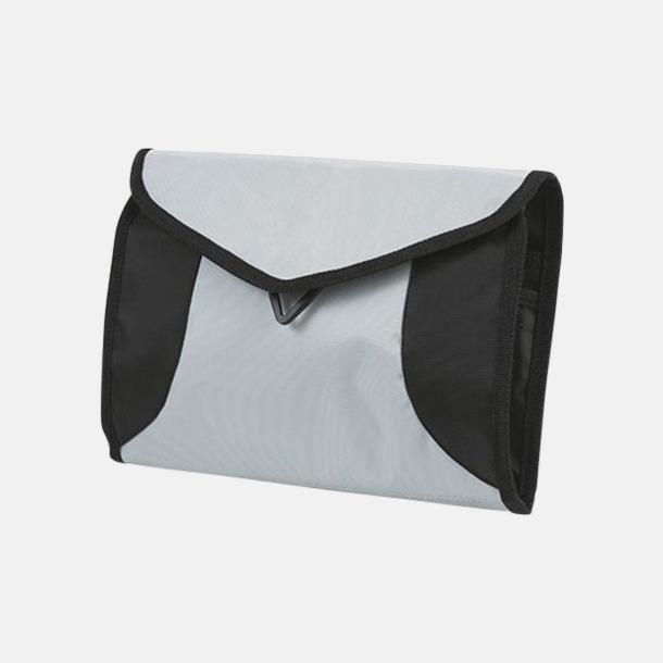 Ljusgrå Vikbara necessärer i flera färger - med reklamtryck