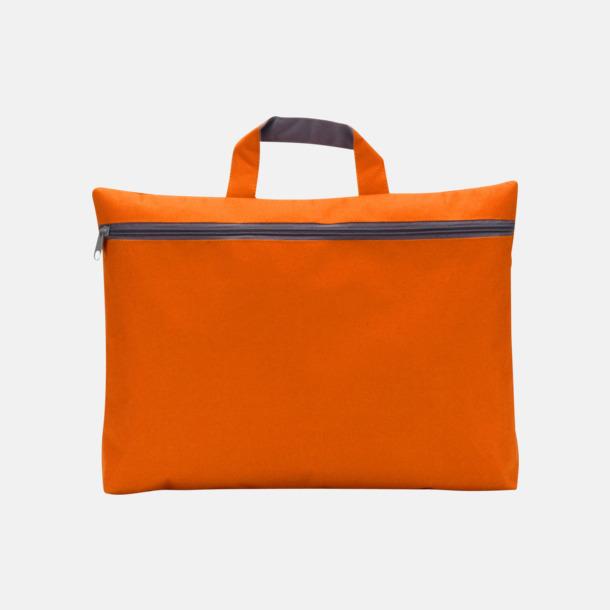Orange Dokumentväska med tryck