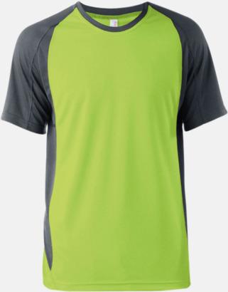 Lime/Dark Grey (solid) Tvåfärgade funktionströjor för män - med reklamtryck