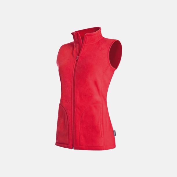 Scarlet Red (dam) Sportiga fleecevästar med reklamlogo