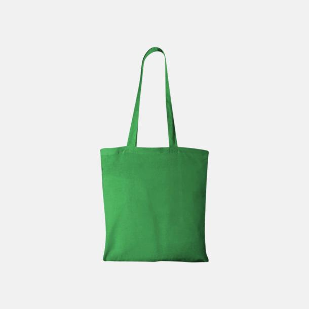 Bright Green Klassiska tygkassar med reklamtryck