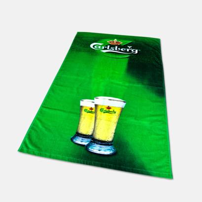 Tjocka handdukar i velourkvalitet med utfallande tryck