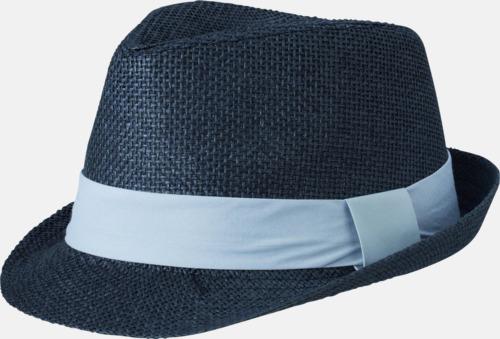 Svart/Ljusgrå Fina sommarhattar i många färger med reklambrodyr