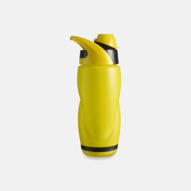 Gul / Svart Vatten och sportflaska med tryck