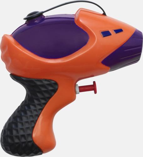 Orange/Lila/Svart Vattenpistoler med reklamtryck