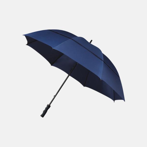 Marinblå (PMS 296C) Stormsäkra paraplyer med eget reklamtryck