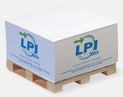 Digitaltryck Kvadratisk papperskub på träpall
