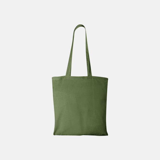 Grön Klassiska tygkassar med reklamtryck