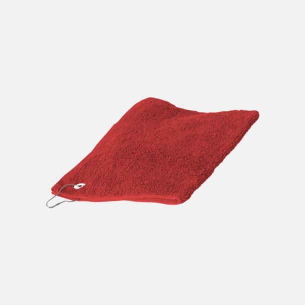 Röd Golfhanddukar med egen brodyr