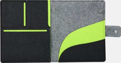 Grå/Svart/Limegrön Dokumentmapp och surfplattefodral med reklamtryck