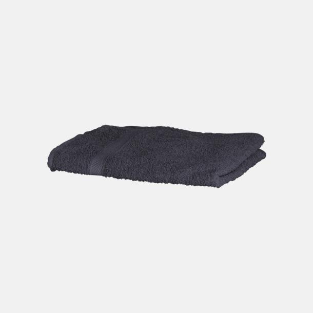 Steel Grey (solid) Exklusiva handdukar med egen brodyr