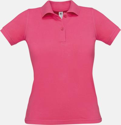 Fuchsia Pikétröjor med tryck för dam