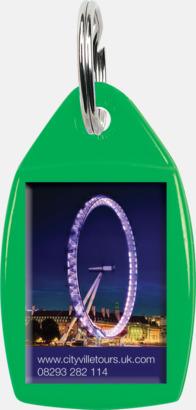 Grön Nyckelringar i olika former med digitaltryck