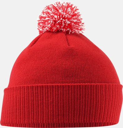 Bright Red/Off White Toppluvor för barn med brodyrlogo