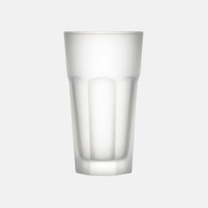 Frostade dricksglas med reklamtryck