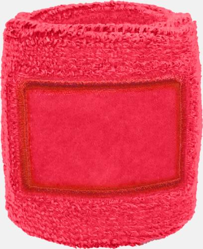 Rosa Armsvettband med label att trycka på