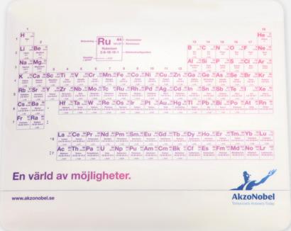 CMYK-tryck Tunna musmattor av hög kvalitet med reklamtryck