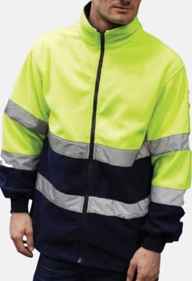 Hi-Vis Gul/Marinblå Säkerhetsjackor i fleece - med reklamtryck