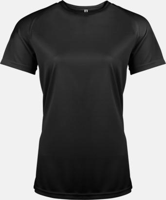 Svart Sport t-shirts i många färger för damer - med reklamtryck