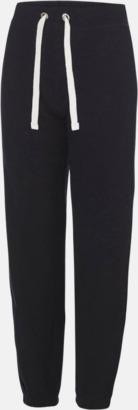 Jet Black Bekväma byxor i dammodell med reklamtryck