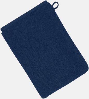 Mörkblå (22 x 16 cm) Mjuka bomullshanddukar i 5 storlekar med reklambrodyr