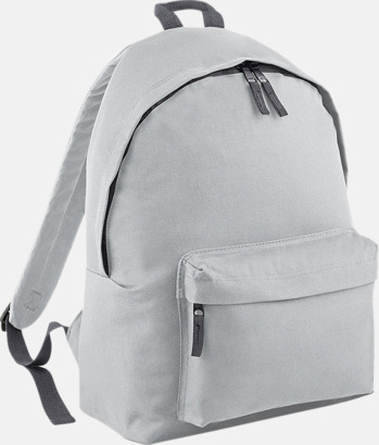 Ljusgrå/Graphite Grey Klassisk ryggsäck i 2 storlekar med eget tryck