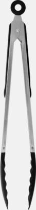 Silver / Svart Grilltänger med tryck eller gravyr