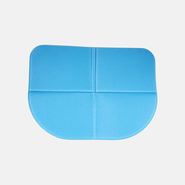 Ljusblå (PMS 2925) Sittdynor i fickformat med reklamtryck