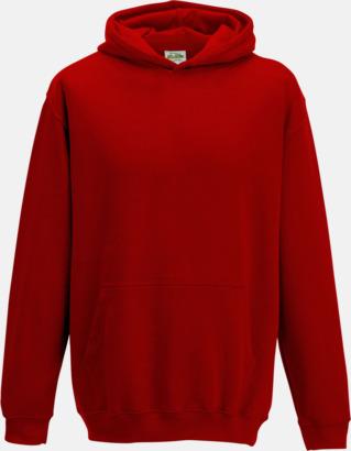 Fire Red Huvtröjor för barn i många färger - med reklamtryck