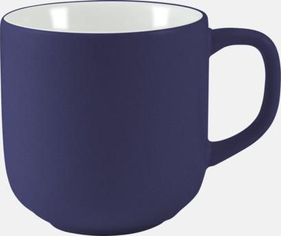 Mörkblå 25 cl kaffemuggar med reklamtryck