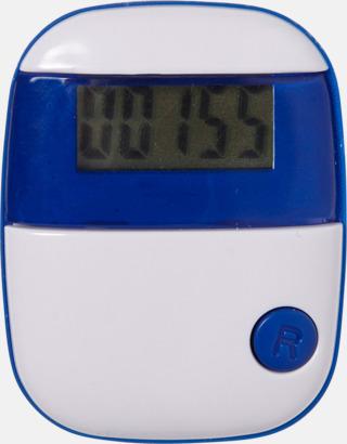 Blå Enkla stegräknare med reklamtryck
