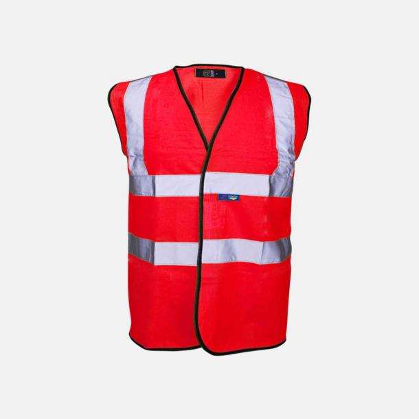 Röd Färgglada säkerhetsvästar med reklamtryck