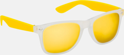 Gul Solglasögon med färgade glas - med tryck