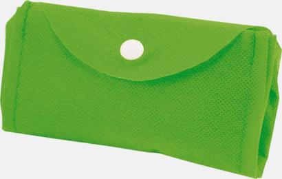 Limegrön Vikbar gympapåse/ryggsäck med reklamtryck