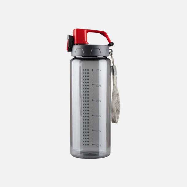 Grå / Röd Sportiga vattenflaskor med eget reklamtryck