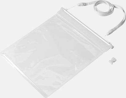 Vit / Transparent Vattentäta fodral för surfplattan - med tryck
