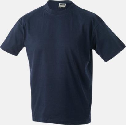 Marinblå Barn t-shirtar av kvalitetsbomull med eget tryck