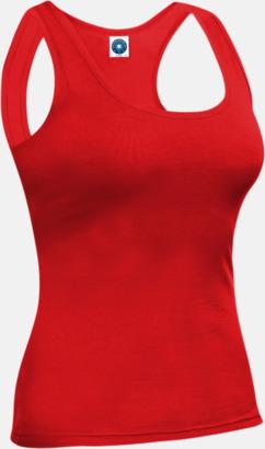 Bright Red Sportlinnen med racer back-rygg med reklamtryck